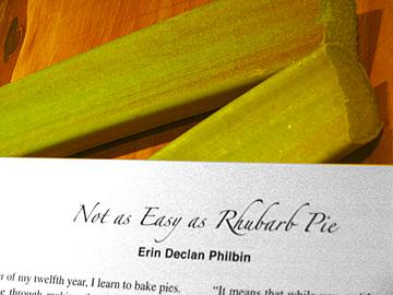 Yes, as Easy as Rhubarb Pie, MJ Ross.